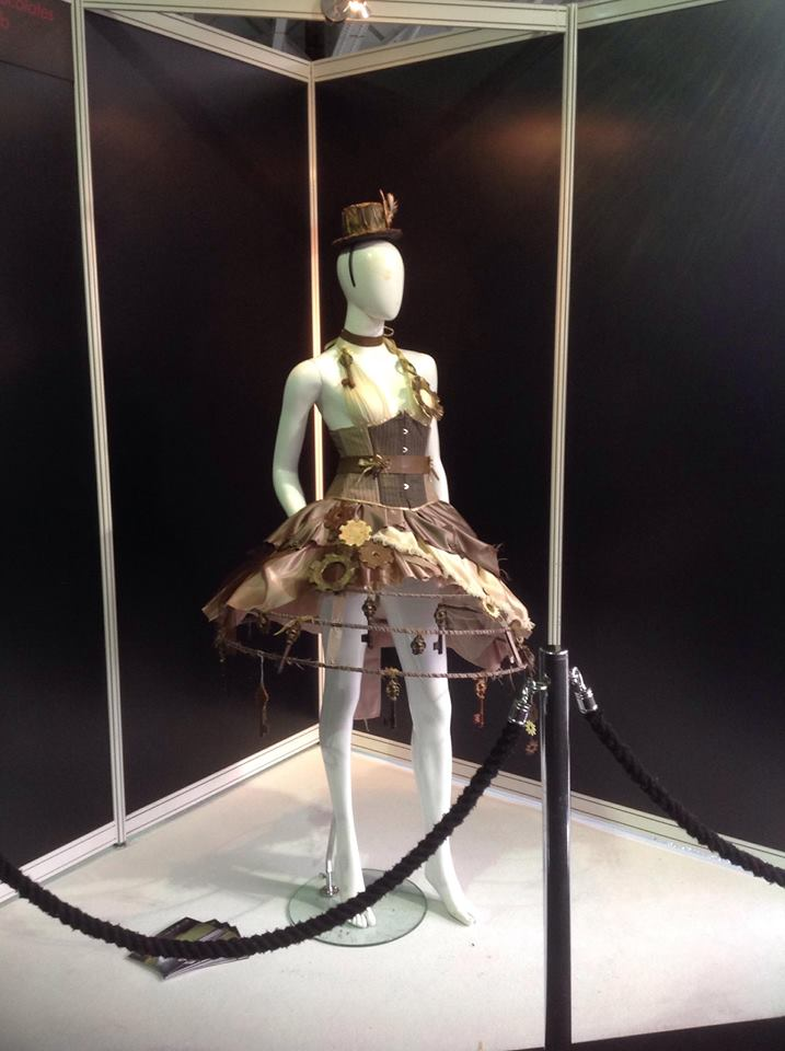 Dress on show